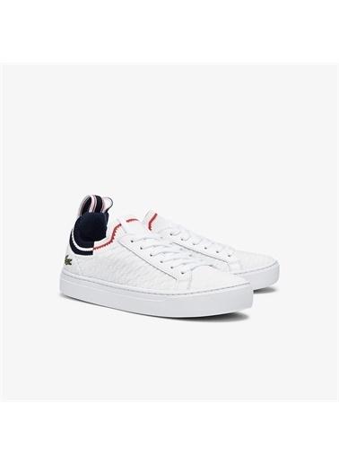 Lacoste Lacoste La Piquee 0721 1 Cfa Kadın Beyaz - Lacivert - Kırmızı Sneaker Renkli